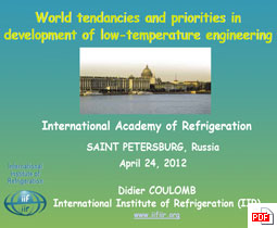 World_tendancies and priorities in development of low-temperature engineering